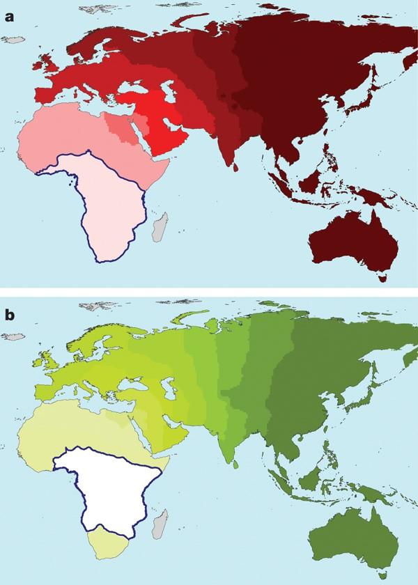 非洲地图 卡通手绘